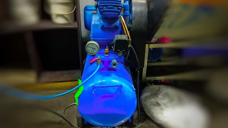 Hot and Overheating Air Compressor