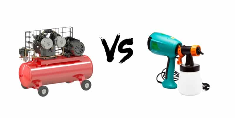 Comparing the Air Compressor and an Electric Paint Sprayer