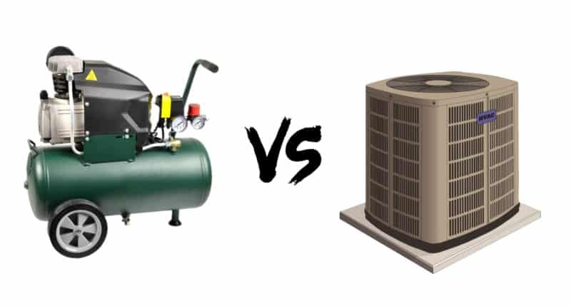 Comparison between Air Compressor and Air Condenser
