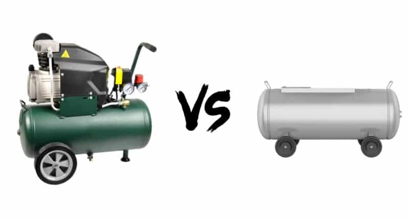 Difference between an Air Compressor and An Air Tank