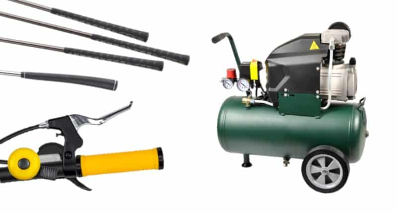 Install Grips with Air Compressors